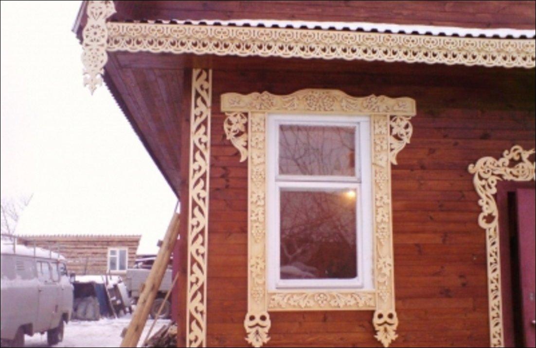 Автор: Инкогнито.  Изготавливаем резные наличники на фасады деревяных домов.