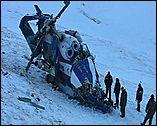 место, где рухнул Ми-8 на Алтае