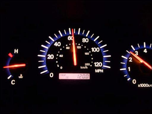 теперь превышение скорости свыше 60 ночи перестало