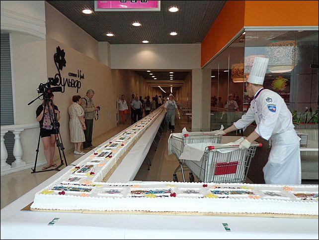 Самое длинное пирожное сделано в Новосибирске