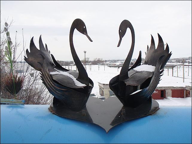 Лебедь из металла своими руками 1