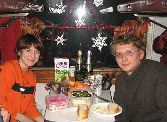 Встречаю новый год в поезде