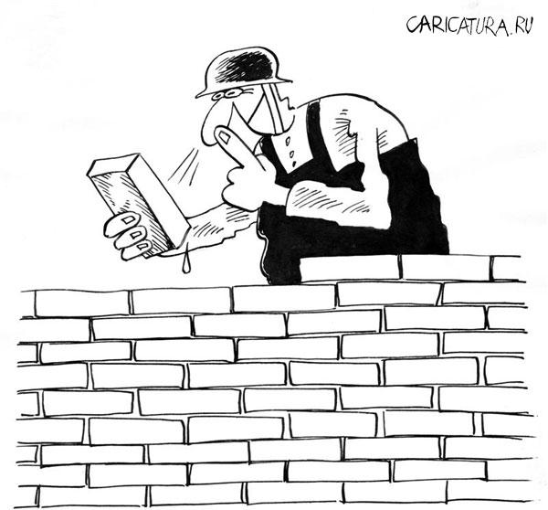 карикатурная картинка строителя затем