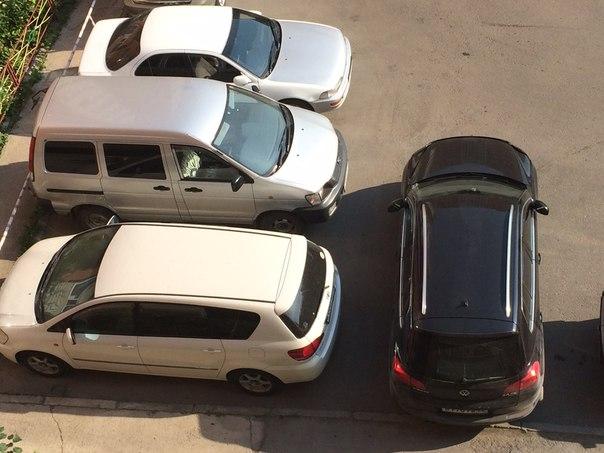 Парковка вторым рядом