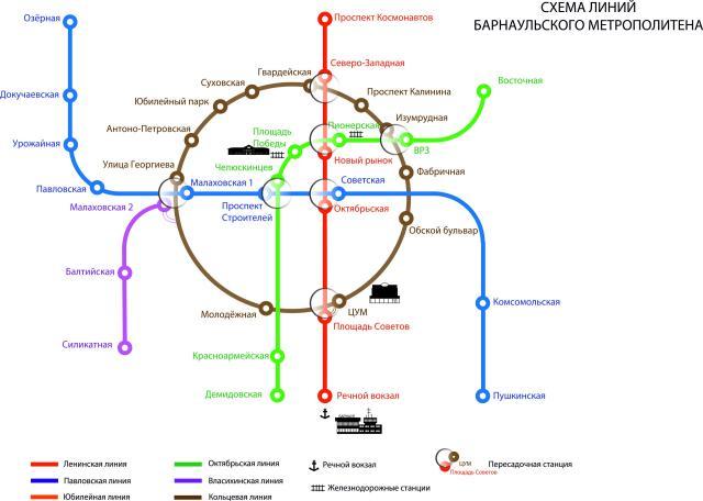 надземного метро в городе