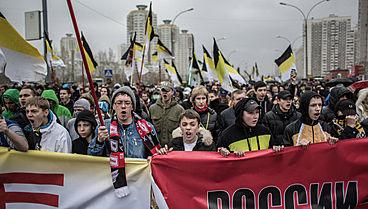 """Мнения россиян о """"Русском марше"""" разделились поровну"""