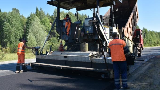 Всередине осени закончится ремонт 3,5км дороги «Алтай— Кузбасс»