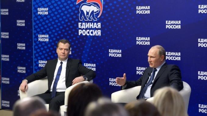 Путин иМедведев сообщили опобеде «Единой России» навыборах