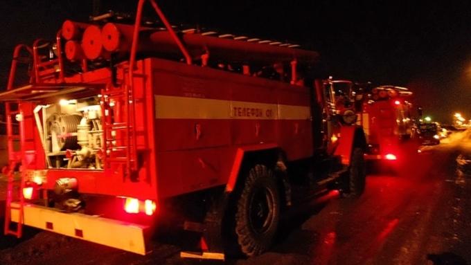 ВБарнауле произошел пожар в высотном многоэтажном здании