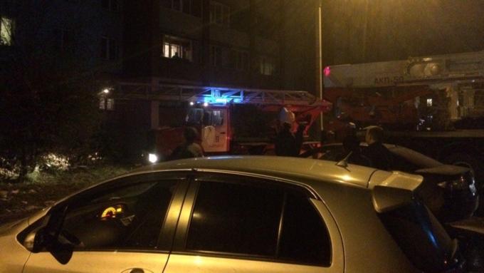 ВБарнауле произошел пожар в высотном многоэтажном доме