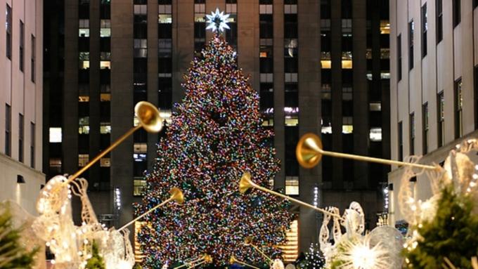 ВНью-Йорке зажгли огни на основной рождественской ёлке города