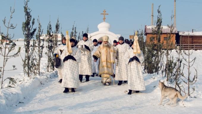 Православные новгородцы подчеркнули Крещение Господне