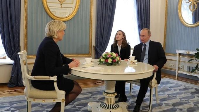 Стали известны детали встречи В.Путина иМарин ЛеПен вКремле