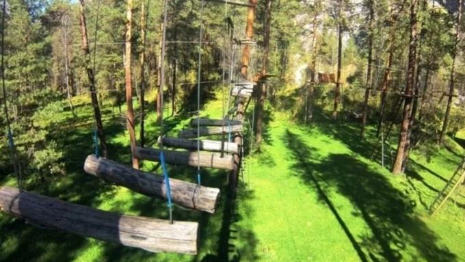 НаАлтае ребенок упал с6-метровой высоты вверевочном парке