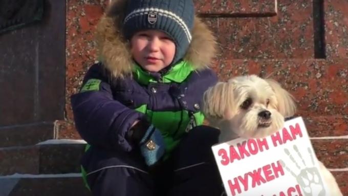 Парень  изБийска обратился кпрезиденту отлица собаки