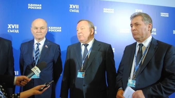 Тамбовчане учавствуют вСъезде партии «Единая Россия»