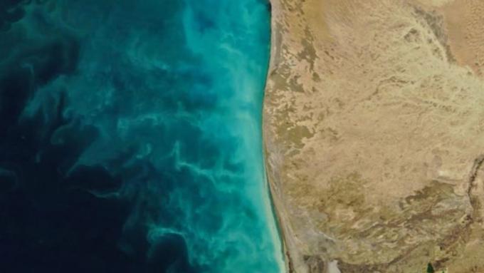 NASA опубликовало фотокарточку аномального процесса вКаспийском море
