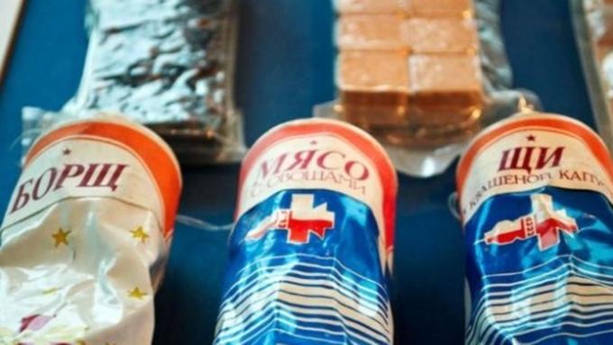 Продукты для космонавтов начали упаковывать вобновленную тару