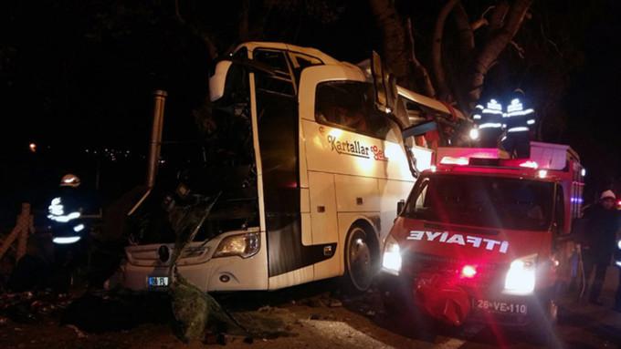 ВТурции 17 незаконных мигрантов погибли вгорящем автобусе