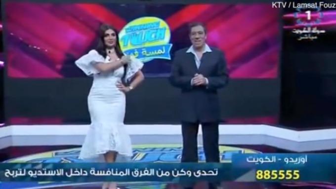 Телеведущую сократили впрямом эфире из-за нескромного платья