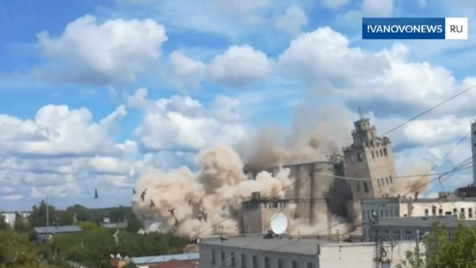 Огромный комбинат взорвали в Иванове