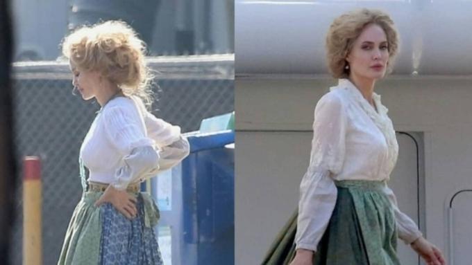 Джоли стала блондинкой ради новой роли: фото с площадки - Кино Mail.Ru