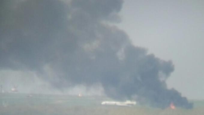 Стало известно, что полыхало рядом с барнаульским аэропортом 9 мая