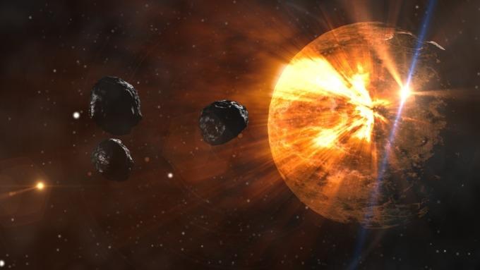 Земля и астероиды / Фото: pixabay.com