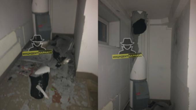 Специалисты назвали возможную причину взрыва мусоропровода в Барнауле