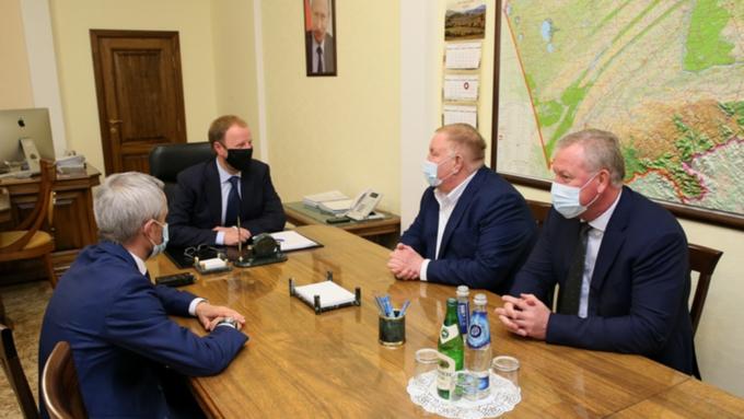 Губернатор Алтайского края Томенко встретился с вице-президентом Федерации дзюдо России