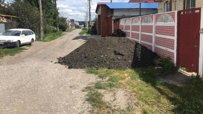 Ещё один участок дороги отсыпали в Барнауле
