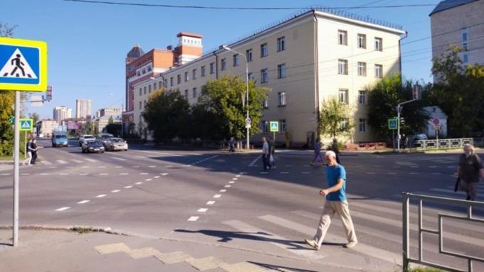 Первый диагональный пешеходный переход появился в Барнауле