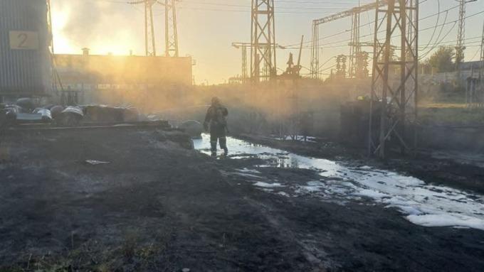 В МЧС раскрыли подробности пожара на территории Барнаульского шинного завода