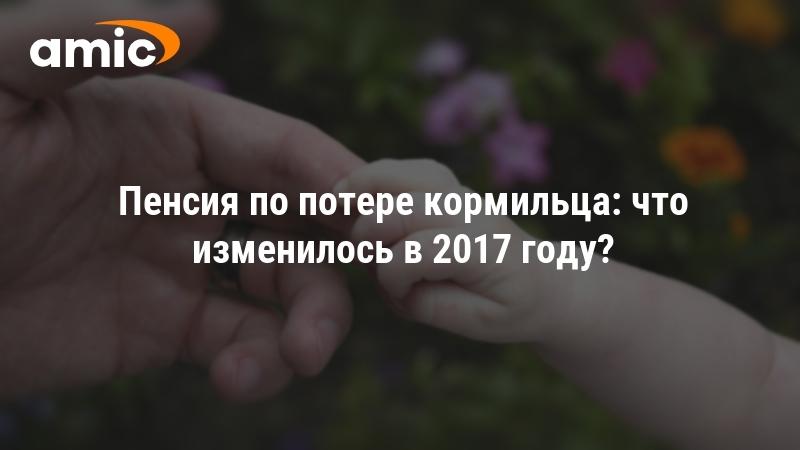 Пенсия по потере кормильца 2017 год размер остались