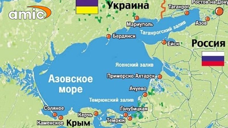 Где находится азовское море на картах