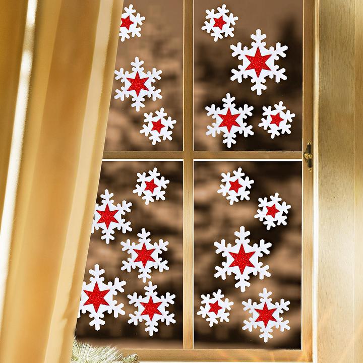 Оригинальные украшаем окна на новый год