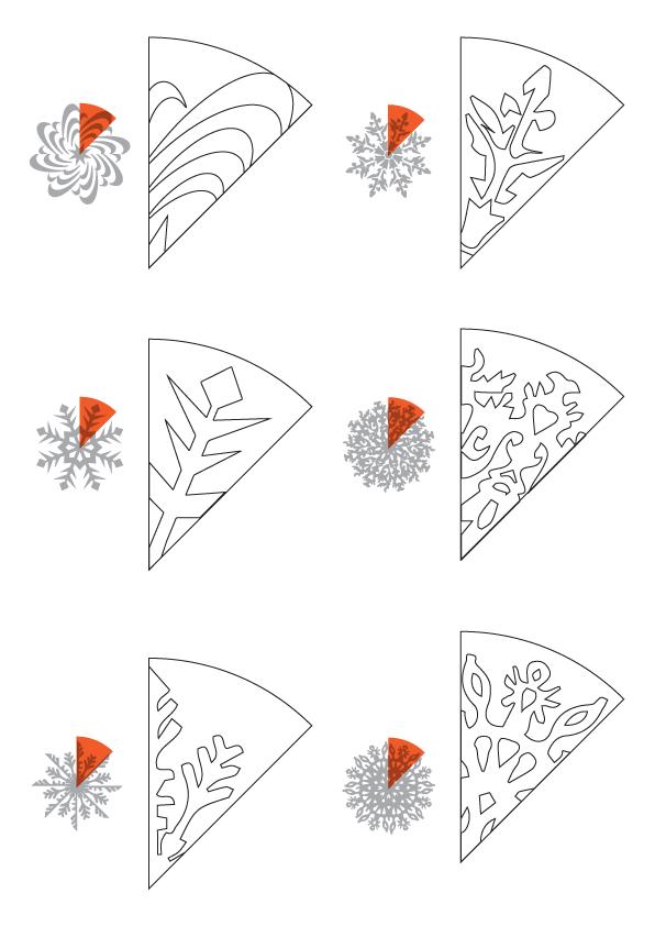 вырезаем снежинки пошагово в картинках чите просто